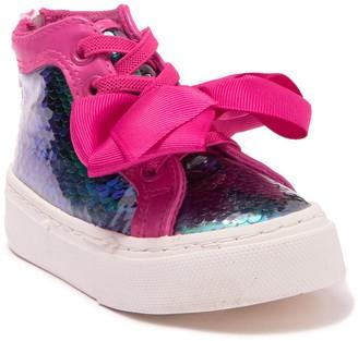 Jojo Siwa Mermaid Reverse Sequin Bow Sneaker (Toddler)