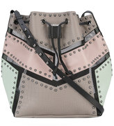 Diesel mesh-trimmed bucket bag - women - Leather/Nylon/metal - One Size
