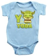 Mighty Fine Star Wars Y is for Yoda Infant Navy Light Bodysuit, 12-18 Months