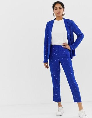 Vila printed suit trousers-Multi