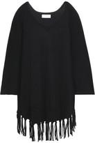 Velvet by Graham & Spencer Fringe-Trimmed Cashmere Sweater
