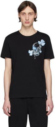 Alexander McQueen Black Embroidered Skull T-Shirt