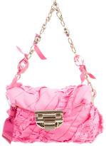 Nina Ricci Raw-Edge Ruched Bag