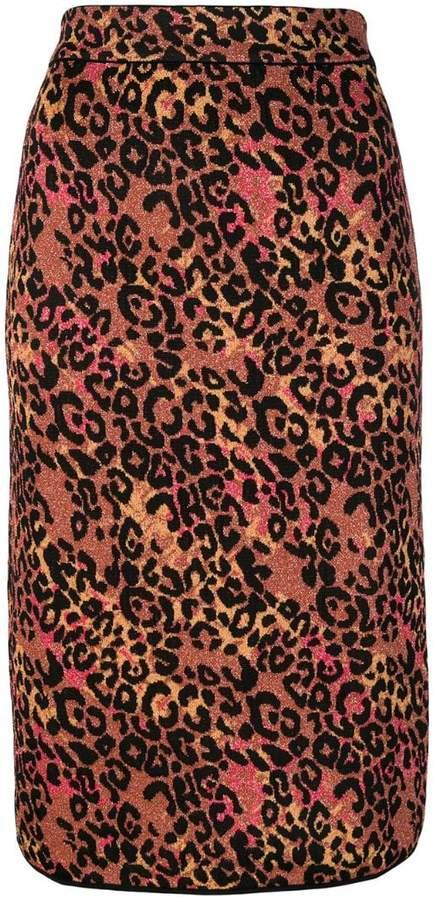 M Missoni leopard print pencil skirt