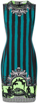 Versace embroidered fitted dress - women - Polyester/Spandex/Elastane/Viscose - 42