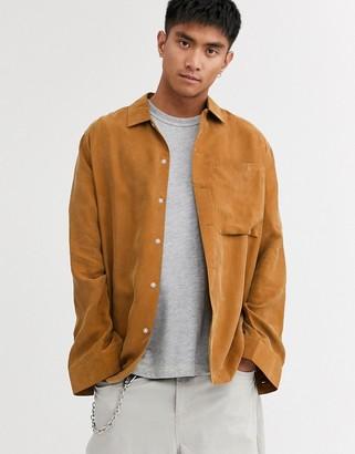 ASOS regular fit shirt in camel
