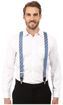 Stacy Adams Gingham Striped Clip On Suspenders