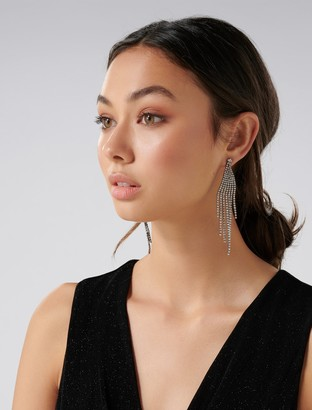 Forever New Jagger Cupchain Statement Earrings - Crystal - 00