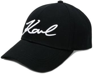 Karl Lagerfeld Paris Logo-Embroidered Baseball Cap