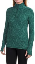 Eddie Bauer Paisley Shirt - Zip Neck, Long Sleeve (For Women)