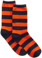 Hot Sox Women's College Rugby-Striped Socks