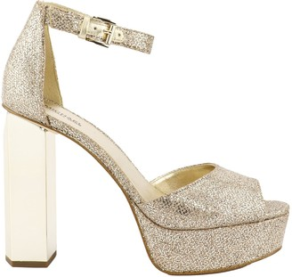 Michael Kors Petra Glitter Mesh Platform Sandal