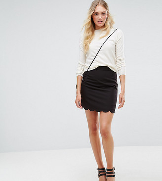 Asos Tall ASOS DESIGN Tall tailored a-line mini skirt with scallop hem