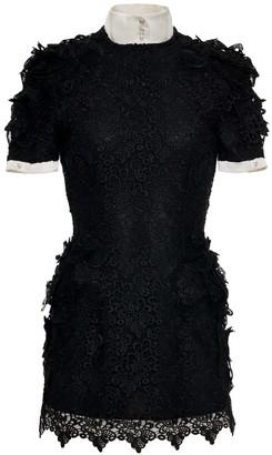 Jiri Kalfar Little Black Dress With Bishop Collar