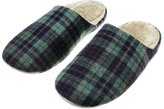 Fakeface Women's Men's Fashion Plaid Slip On Warm Winter Soft Cozy Fleece Clog Slipper Fluffy Anti-skid Suede Comfy Plush House Scuff Mule Shoes Indoor Bedroom Memory Foam Clogs Slippers Footwear