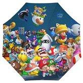 Super Mario Bros Custom Auto Foldable Rain Umbrella Wind Resistant Windproof Floding Travel Umbrella