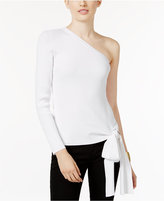 INC International Concepts One-Shoulder Bow-Detail Top, Only at Macy's