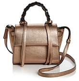 Elena Ghisellini Angel Mini Metallic Leather Crossbody