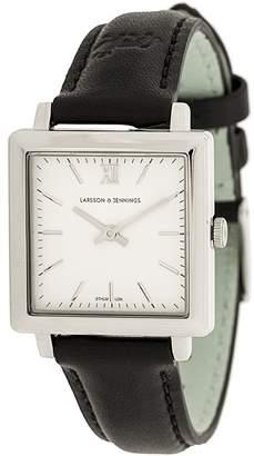Larsson & Jennings square-face roman dial watch
