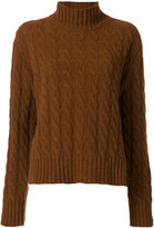 MSGM turtleneck cable knit jumper - women - Polyamide/Wool - XS