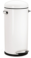 Simplehuman 30L Retro Step Can White with Bonus 60 Pack Liners