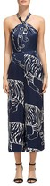 Whistles Sophia Tiger-Print Silk Jumpsuit