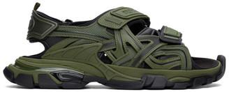 Balenciaga Green and Black Track Sandals