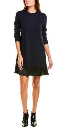 Rag & Bone Sadie Silk-Trim Wool-Blend Sweaterdress