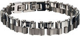 JCPenney FINE JEWELRY Mens Two-Tone Stainless Steel Offset Link Bracelet