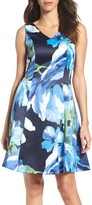 Ellen Tracy Women's Floral Fit & Flare Dress