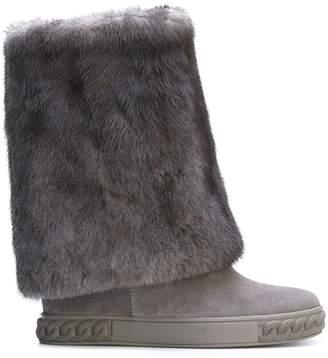 Casadei mink fur Chaucer boots