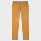 Paul Smith Men's Mid-Fit Tan Mercerised Stretch-Cotton Twill Chinos