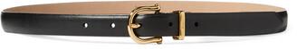 Ralph Lauren Nappa Leather Skinny Belt