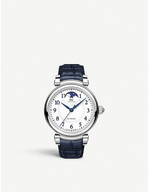 IWC IW459306 Da Vinci Automatic Moon Phase 36 stainless steel and leather watch