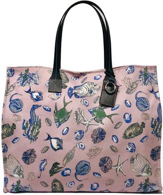 Rani Arabella Fish-Print Canvas Shopper Tote Bag