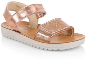 Naturino Little Girl's & Girl's Metallic Leather Sandals