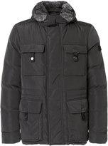 Peuterey padded fur-trim jacket - men - Rabbit Fur/Polyamide/Polyester/Duck Feathers - S