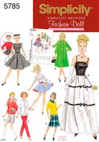 Simplicity Sewing Pattern 5785 Doll Clothes, One