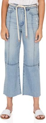 Habitual Rhys Crop Wide Leg Belted Pants