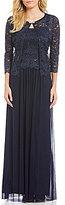Jessica Howard 3/4-Sleeve Lace 2-Piece Jacket Dress