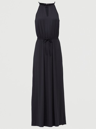 Very Halter Keyhole Maxi Dress - Black