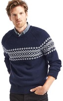 Gap Merino wool blend fair isle crew sweater