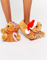 Asos NEWLYBREADS Holidays Gingerbread Slippers