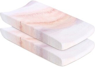 Oilo Sandstone 2-Pack Jersey Changing Pad Covers