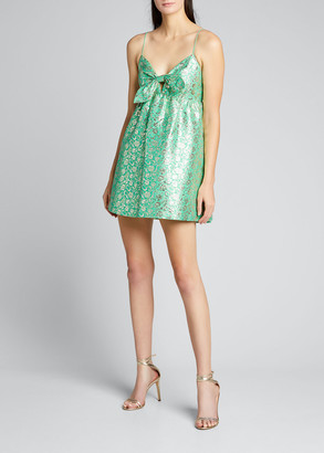 Alice + Olivia Melvina Brocade Babydoll Dress