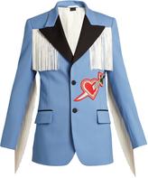 Gucci Pierced heart-appliqué twill jacket