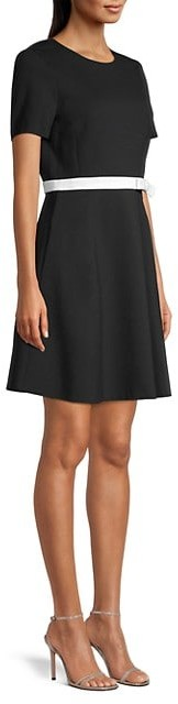 Thumbnail for your product : Kate Spade Bow-Waist Ponte Dress