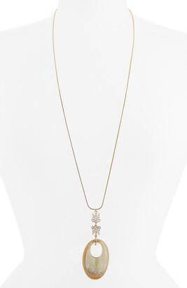 Akola Crystal & Horn Pendant Necklace