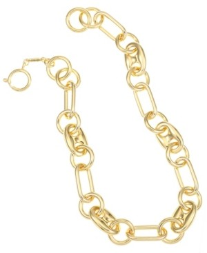Trifari Gold-Tone Bold Link Collar Necklace