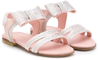 Montelpare Tradition TEEN rhinestone-embellished flat sandals